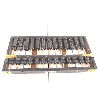 Vintage Lotus-Flower Brand Abacus 13 Rungs 91 Beads People Republic Of China