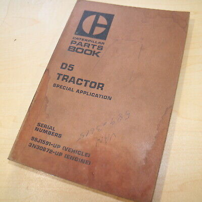 Cat Caterpillar D5 Tractor Dozer Crawler Parts Manual Book 98j Series Catalog