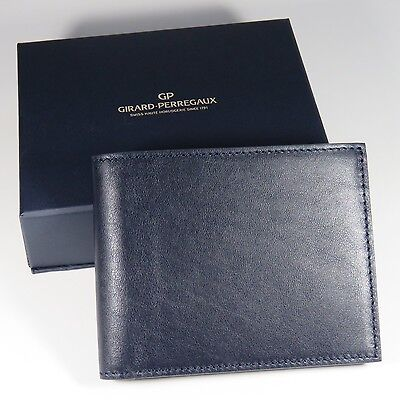 Girard-Perregaux WALLET Navy Blue Leather BEST QUALITY (Best Mens Wallets 2019)