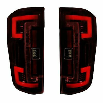 Recon Dual U-Bar Red Lens OLED Tail Lights For 2017-2019 Ford Super Duty