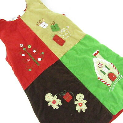 BT Kids Sleeveless Jumper Christmas Gingerbread Dress 3T Toddler Girl Holiday
