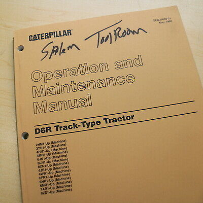 CAT CATERPILLAR D6R Crawler Tractor Dozer Owner Operator Operation Manual book for sale  Portland