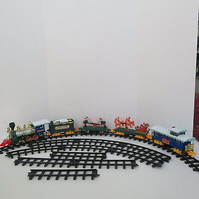 VINTAGE 1992 TOY STATE SANTA'S MAGIC EXPRESS TRAIN SET, COMPLETE - WORKING