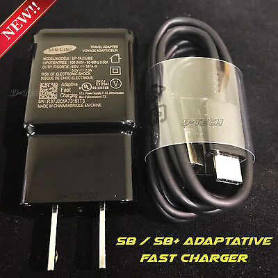 Original Samsung Galaxy S8 S8 Plus Note8 Adaptive Fast USB Type C+ Wall Charger