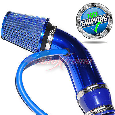 Universal COMPLETE COLD AIR INTAKE Induction KIT HOSE System & NARROW Filter BLU