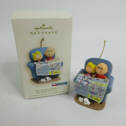 2007 Hallmark Keepsake Ornament The Sunday Funnies Peanuts Charlie Brown & Sally