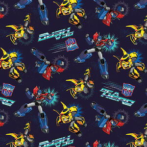 Hasbro Transformers Robots Autobots Be A Hero 100% cotton fabric by the yard
