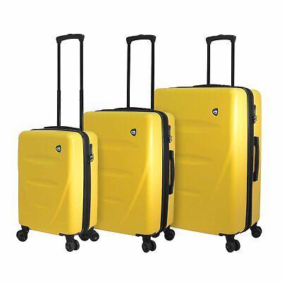 Mia Toro M1304-03pc-ylw Italy Fassa Hardside Spinner Luggage 3 Piece Set Yellow