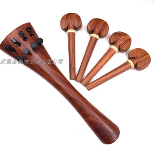 4/4 Cello parts,nice rosewood parts (tailpiece&pegs) rounded model