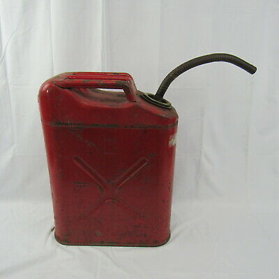 Usmc Jerry Can Fuel Diesel Gas Gasoline Tank Red Metal Vintage Farm Equipment