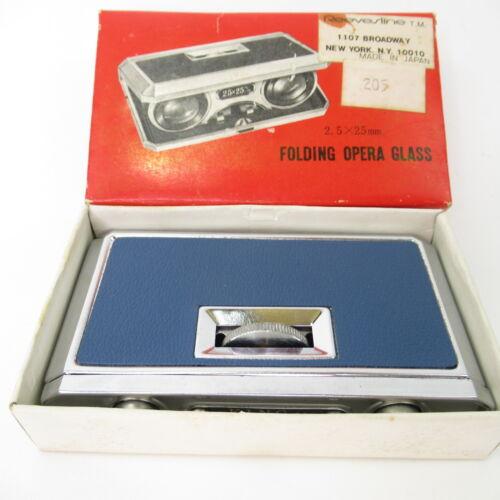 Vntg King Folding Opera Glasses 2.5x25mm Made In Japan Binoculars Original Box