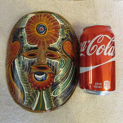 Oaxaca Painted Clay Pottery Mask Mexico Folk Art