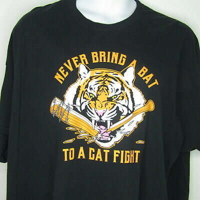 The Walking Dead Never Bring A Bat To A Cat Fight Tee T Shirt Missing Tag