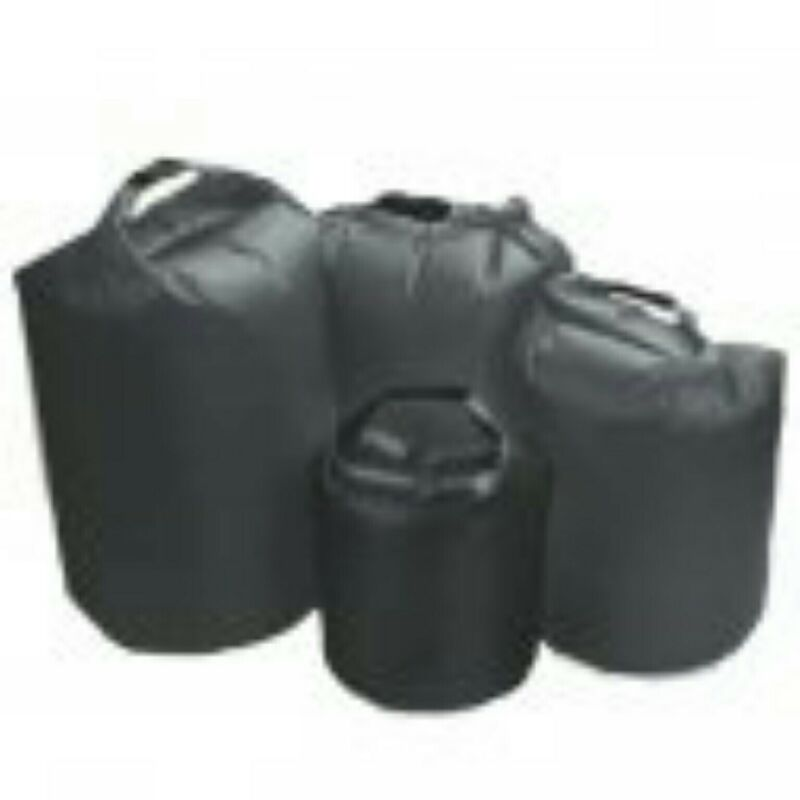 TAS DRY BAG 15L BLACK RIPSTOP SILICONISED NYLON WITH TPU LAMINATE AND D RINGS