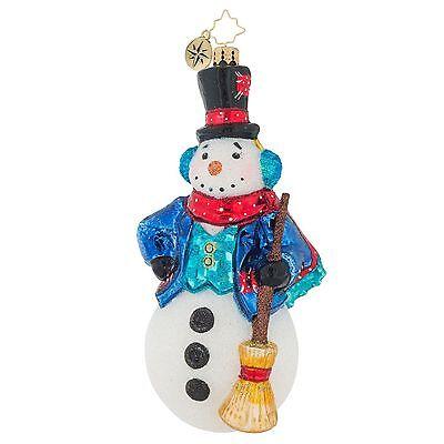 [Christopher Radko Ornaments - VINTAGE FROST SNOWMAN Christmas Ornament 1019129</Title]