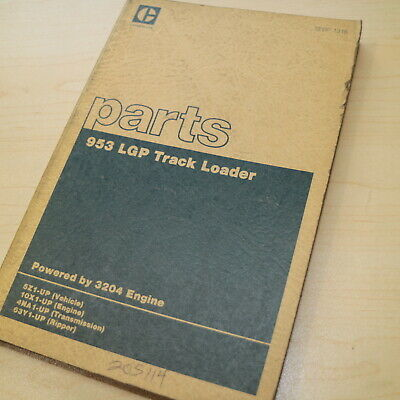 Cat Caterpillar 953 Track Loader Crawler Parts Manual Book 5z Series List Lgp