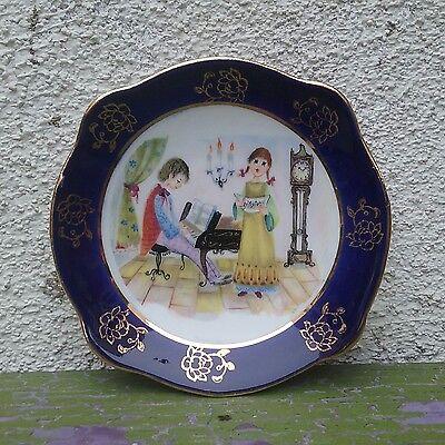 Vintage Porcelain Small Trinket Dish KA /Ker Artis/ Made in Italy