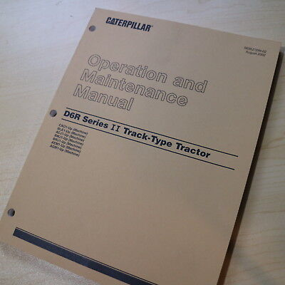 Used, CAT Caterpillar D6R Series II Tractor Dozer Crawler Owner Operator Manual book for sale  Portland