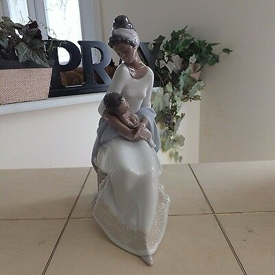 LLADRO # 6851 A MOTHER'S EMBRACE MOTHER & BABY MINT CONDITION FAST SHIPPING!!!