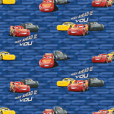 Disney Cars Cotton Fabric - Disney Cars 3 McQueen & Cruz 100% Cotton Fabric by the Yard