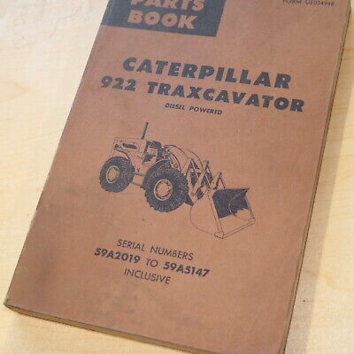 Cat Caterpillar 922 Front End Wheel Loader Parts Manual Book Catalog 59a Series