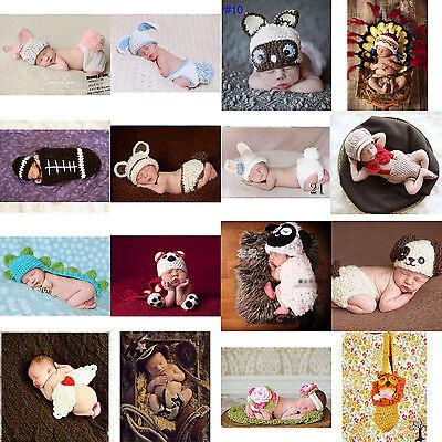 Newborn Boys Girls Baby Crochet Knit Costume Photography Photo Props Hat Outfit - Costume Newborn