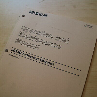 Cat Caterpillar 3054c Industrial Engine Operation Operator Maintenance Manual