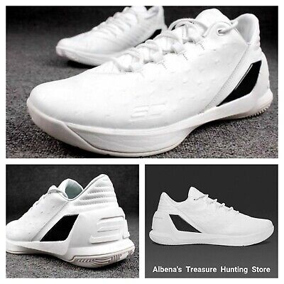 bd3706958b0a UNDER ARMOUR Curry 3 Lux Men s Low Basketball Shoes White Limited Release  Sz 12