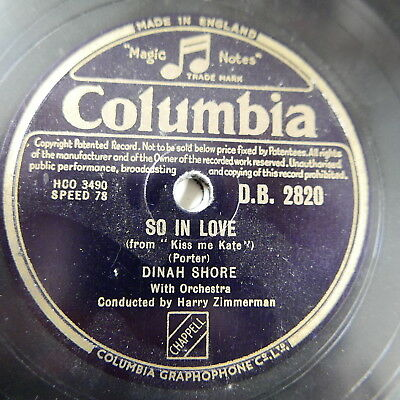 78rpm DINAH SHORE so in love / always true to you in my fashion