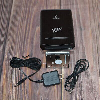 IOMEGA REV USB Drive 31035401 w/ Power Supply, USB Cable & 35gb Disk