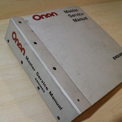Onan Diesel Engine Repair Shop Master Service Owner Operator Manual Owner Book