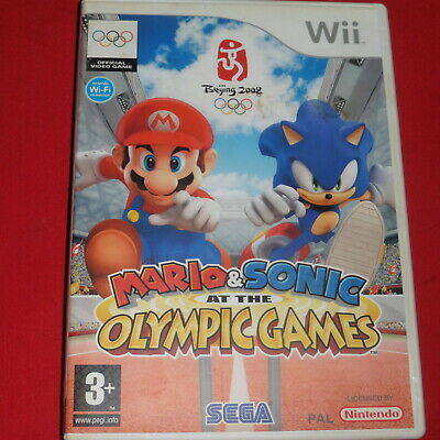 Nintendo Wii Game Mario & Sonic at the Olympic Games 2007 sega (Beijing 2008 Pal for sale  Shipping to Nigeria