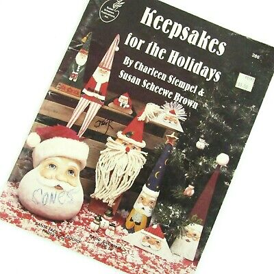 Keepsakes For The Holidays Tole Painting Book Christmas Halloween Stempel Brown - Tole Painting Books Halloween