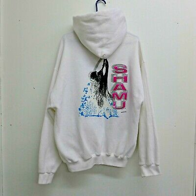 Vintage 90s SEAWORLD SHAMU Pullover Hoodie WHITE Xtra LARGE Sea World Orca SZ XL Vintage White Hoodie