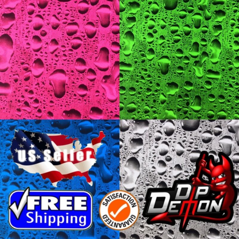 LM TRANSPARENT WATER DROPS HYDROGRAPHIC WATER TRANSFER FILM HYDRO DIPPING DIP