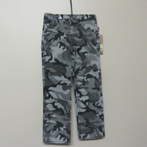True Religion Jeans Boys Pant Straight Fit Gray Camouflage Retail $79 NWT 8Years