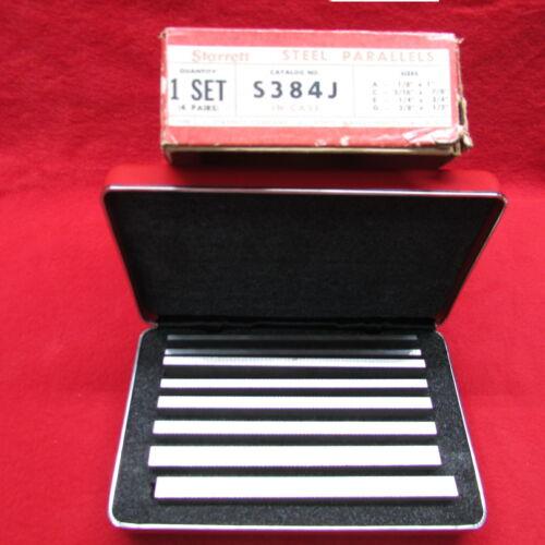 Starrett S384J Steel Parallel Set  W /Box and Case