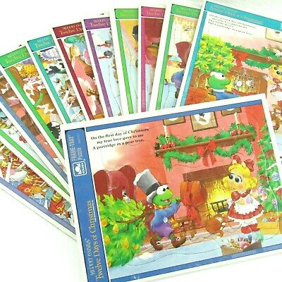 Muppet Babies Twelve Days of Christmas Frame Tray Puzzles Lot of 12 Jim Henson ()