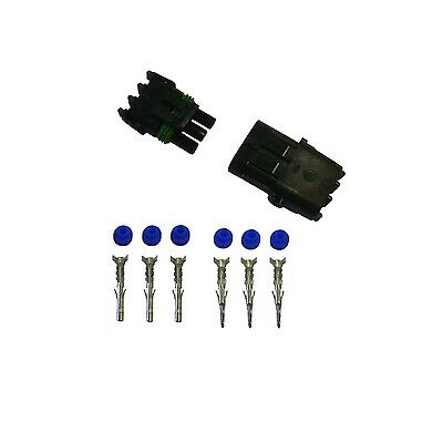 2x 3 Pin Delphi Weather Pack Connector 12awg Terminals And Seals 2 Sets