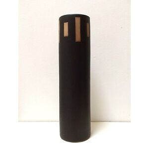 Tall Earthenware Dark Ceramic Vase Natural Decor RRP $30. Exc Cond North Melbourne Melbourne City Preview