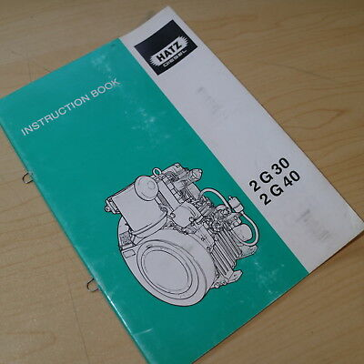 Hatz 2G 30 40 Diesel Engine Motor Instruction Owner Maintenance Book guide user