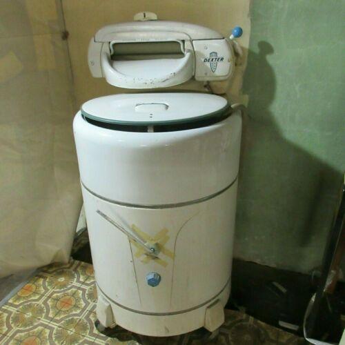 Antique Vintage Dexter Enameled Electric Wringer Washing Machine