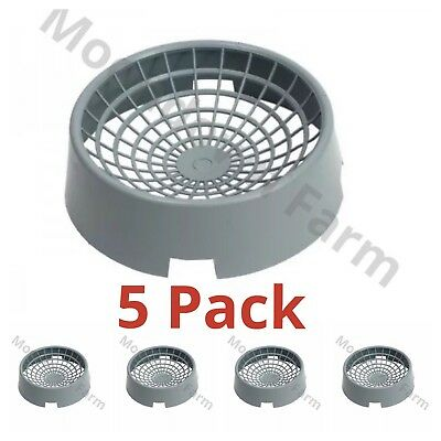 5 x Pigeon Nest Bowls For Nesting Pigeons Robust Heavy Plastic 22cm Ventilated