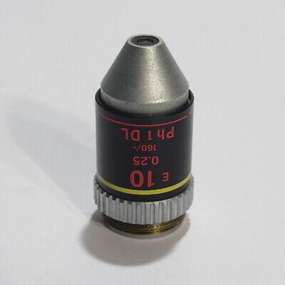 Nikon E 10 0.25 160- Ph1 Dl Phase Contrast Microscope Objective - 10x