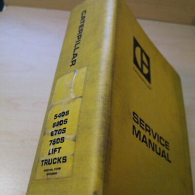 Towmotor Caterpillar 540s 600s 670s 750s Forklift Repair Shop Service Manual Cat