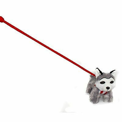 FunStuff Husky Plush Dog on a Retractable Leash Stuffed Animal