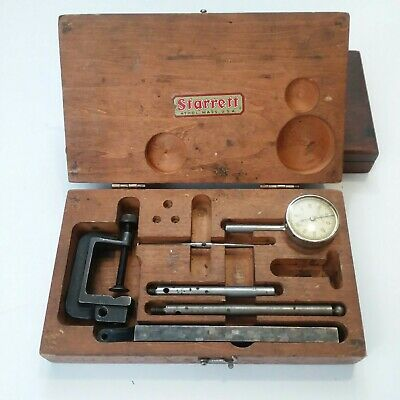 Vintage Starrett Universal Dial Test Indicator #196 Case 196A1Z Machinists 6pcs