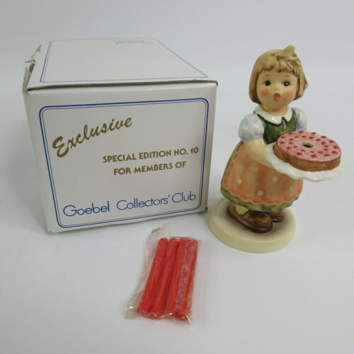 Vtg Hummel Goebel Birthday Candle Collectors Club 10 1983 #440 Special Edition