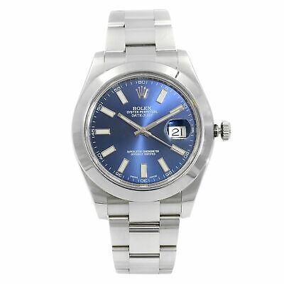 Rolex Datejust II Steel 41mm Blue Dial Automatic Mens Watch 116300-BLUSSO