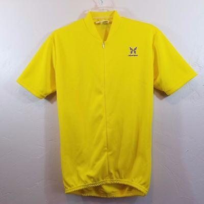 Bright Yellow Shaker Sport Cycling Jersey Men s Size Small 7f3ea4d4a